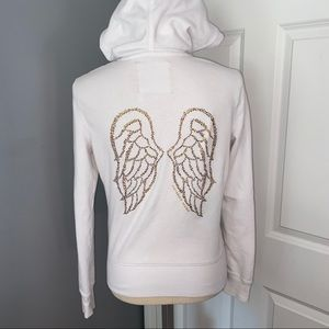Victoria's Secret Sequin Angel Wings Zip Up Hoodie